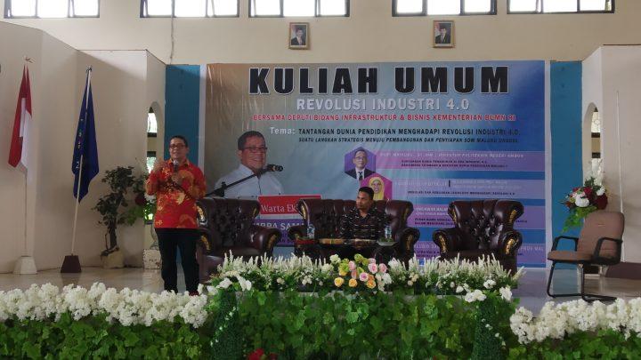 Deputi  Infrastruktur dan Bisnis Kementerian BUMN RI Beri Kuliah Umum