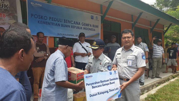 Kementrian BUMN -Jasa Raharja Maluku Bangun Posko Peduli Gempa di Ketapang