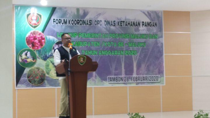Sekda Maluku Buka Forum OPD Dinas Ketahanan Pangan