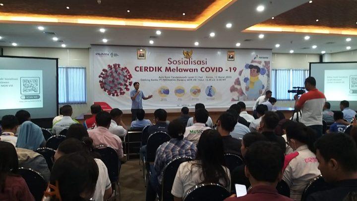 Pertamina Edukasi CERDIK Melawan COVID – 19 di Maluku Papua