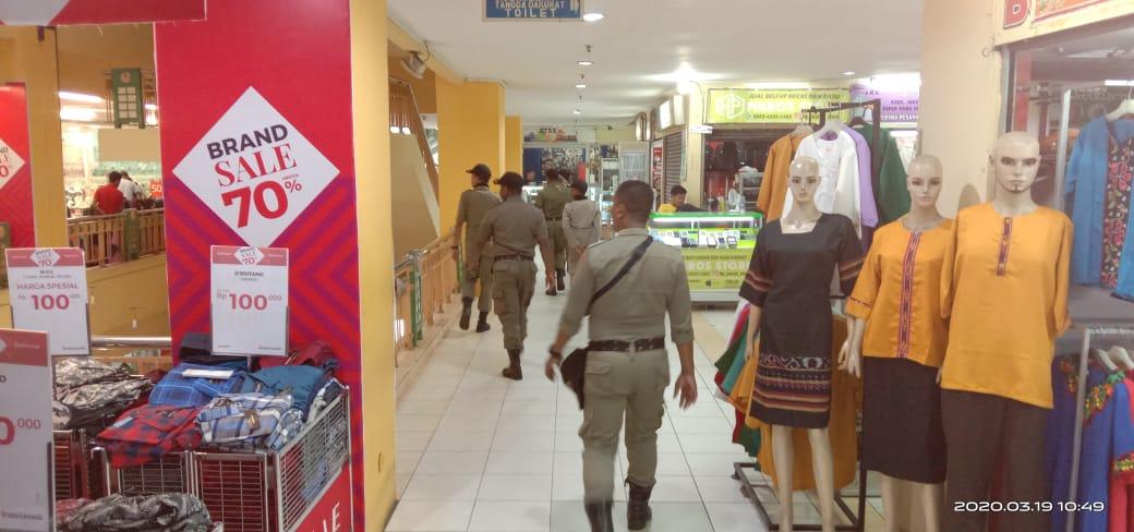 Puluhan Personil Pol PP Dikerahkan Pantau Tempat Keramaian