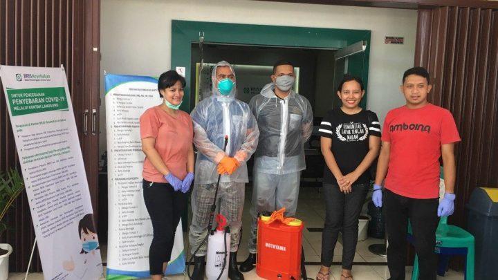 BPJS Kesehatan Gandeng Pakocabe Community Sterilkan Kantor