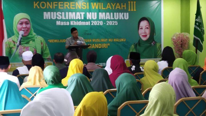 Ini Lima Pesan Penting Gubernur pada Konferwil Muslimat NU Maluku