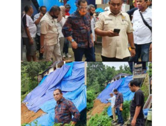 Para Wakil Rakyat di kota Ambon Tinjau Lokasi  Bencana