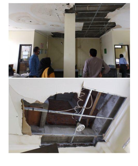 Komisi II DPRD Kota Ambon Tinjau Bangunan Disdik yang Rusak Parah Akibat Gempa