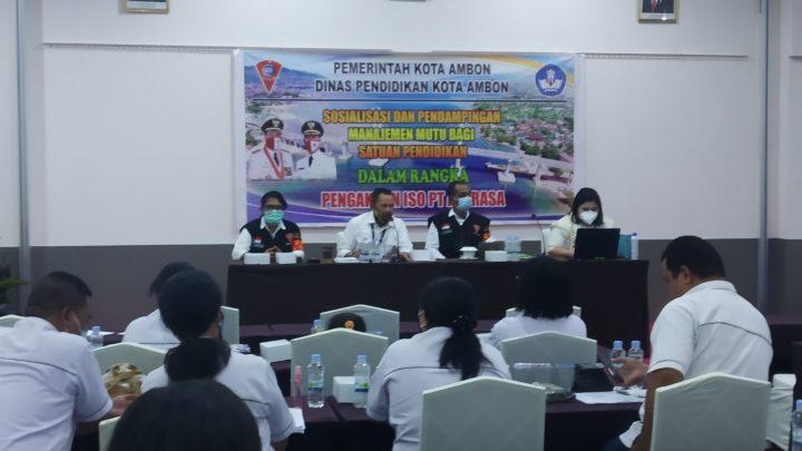 Pemkot Gandeng PT.Abrasa Hentarkan Sekolah di Ambon Raih Sertifikat ISO 9001