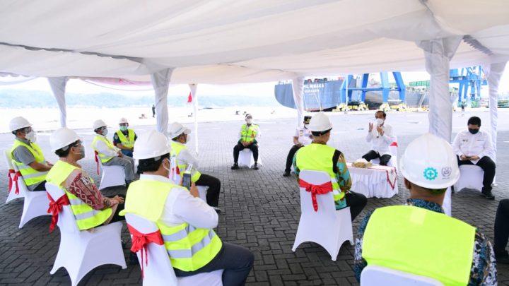 Kunjungi Pelabuhan Yos Sudarso, Presiden Berdialog dengan Pelaku Usaha Perikanan