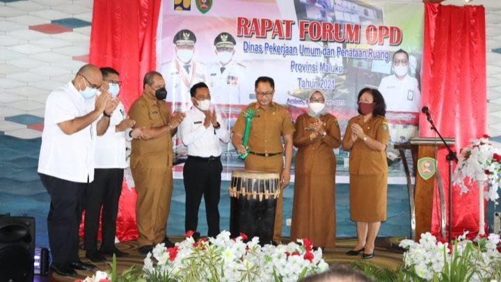 Rapat Forum OPD PUPR Maluku Tahun 2021