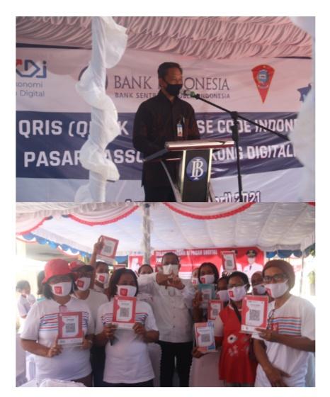 Upaya BI Maluku Sasar Pedagang Pasar Pakai QRIS