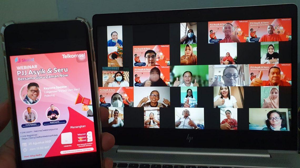 Telkomsel Gelar Webinar bagi Kepsek dan Guru di Regional Papua Maluku