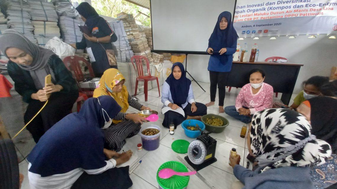 Melalui Program CSR Pertamina DPPU Pattimura Latih Masyarakat Cara Mengubah Sampah Organik
