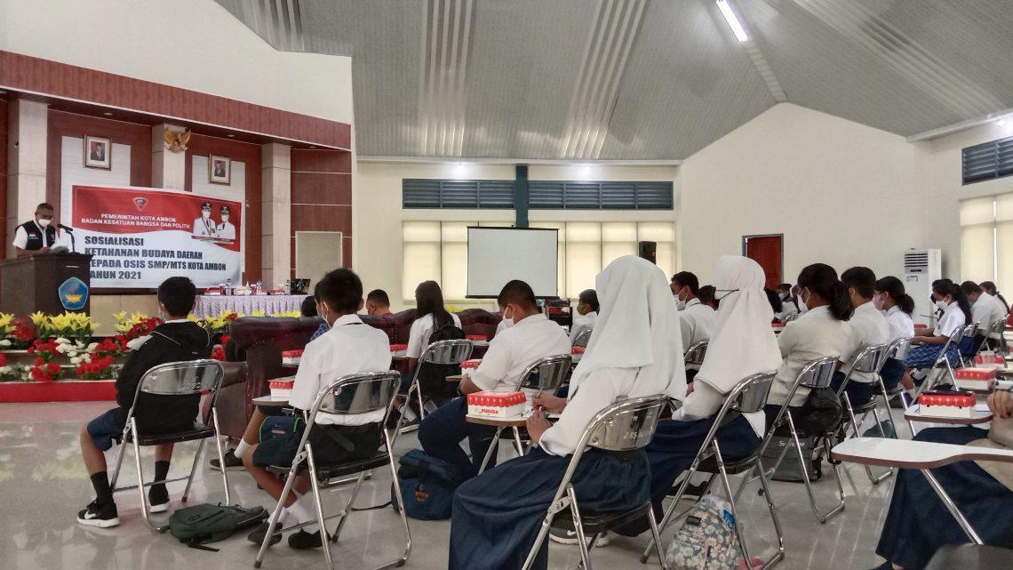 Sosialisasi Ketahanan Budaya Daerah bagi OSIS SMP/MTs di kota Ambon